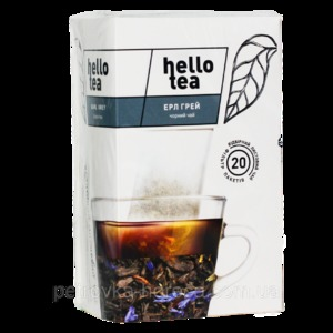 Чай Hello tea Black Earl grey 20шт Бергамот